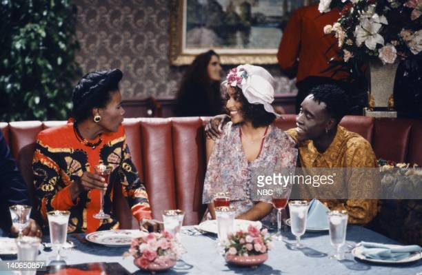 AIR Homeboy Sweet Homeboy Episode 5 Pictured Janet Hubert as Vivian Banks Karyn Parsons as Hilary Banks Don Cheadle as Ice Tray Photo by Chris...