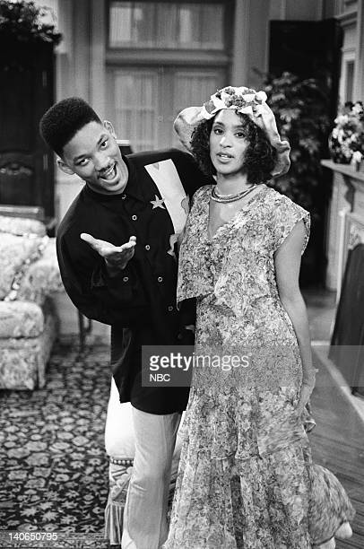 AIR 'Homeboy Sweet Homeboy' Episode 5 Pictured Will Smith as William 'Will' Smith Karyn Parsons as Hilary Banks Photo by Chris Haston/NBCU Photo Bank