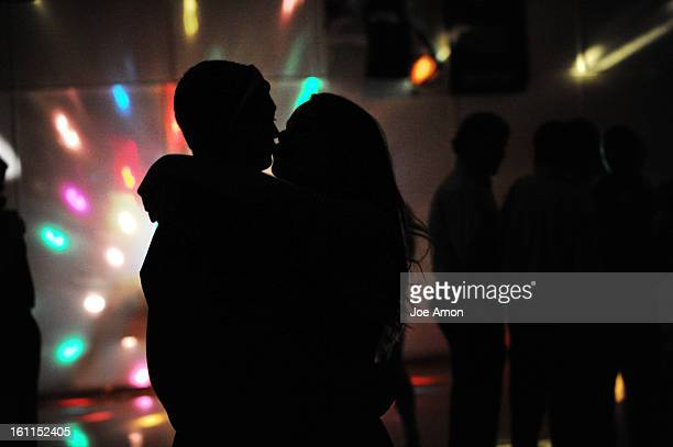 Homecoming at Deer Trail the music is picked a single disco ball on a folding chair lights the room Cara Jolly and Caleb Mock steal a kiss as the...