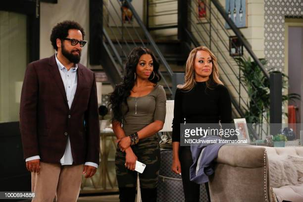 MARLON 'Homecoming' Episode 208 Pictured Diallo Riddle as Stevie Bresha Webb as Yvette Essence Atkins as Ashley Wayne