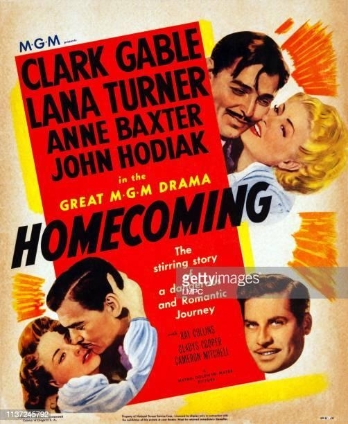 Clark Gable Lana Turner bottom lr Anne Baxter Clark Gable John Hodiak on poster art 1948