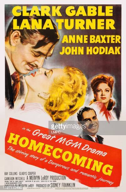 Homecoming poster US poster art from left Clark Gable Lana Turner Anne Baxter John Hodiak 1948