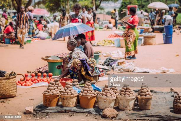 homegrown vegetables for sale at the market in mzuzu, malawi - malawi stock pictures, royalty-free photos & images