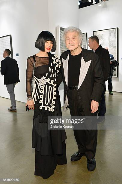Homeira Goldstein and Arnold Goldstein attend the LA Art Show 2017 opening night premiere hosted by Emma Roberts benefiting St Jude Children's...