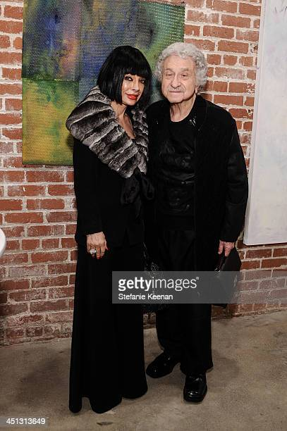 Homeira Goldstein and Fran Lasker attend The Rema Hort Mann Foundation LA Artist Initiative Benefit Auction on November 21, 2013 in Los Angeles,...