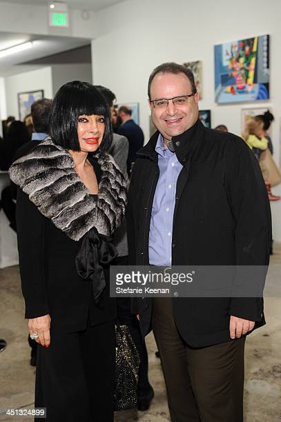 Homeira Goldstein and Robert Gelson attend The Rema Hort Mann Foundation LA Artist Initiative Benefit Auction on November 21 2013 in Los Angeles...