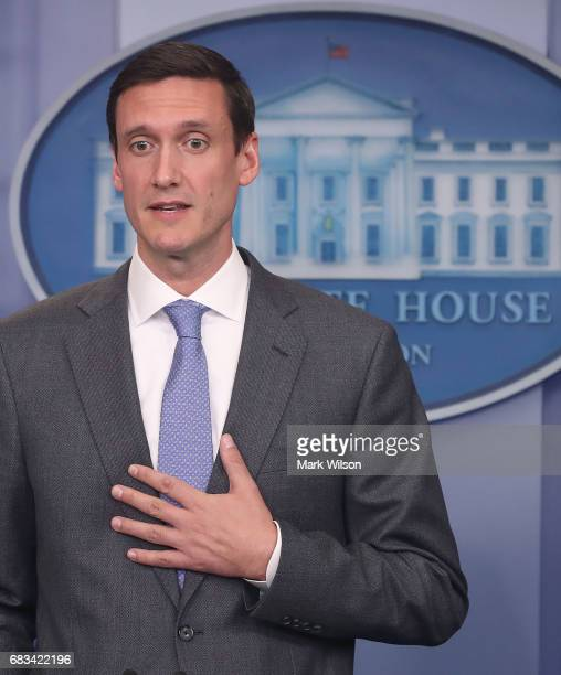 Homeland Security Advisor Tom Bossert speaks about recent cyber attacks during a briefing at the White House on Wednesday May 11 2017 on May 11 2017...