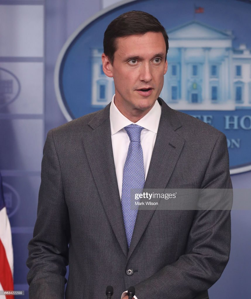 Homeland Security Advisor Tom Bossert speaks about recent cyber attacks during a briefing at the White House, on Wednesday, May 11, 2017. on May 11, 2017 in Washington, DC. Computers in over one hundred countries have been affected by the 'WannaCry' ransomware.