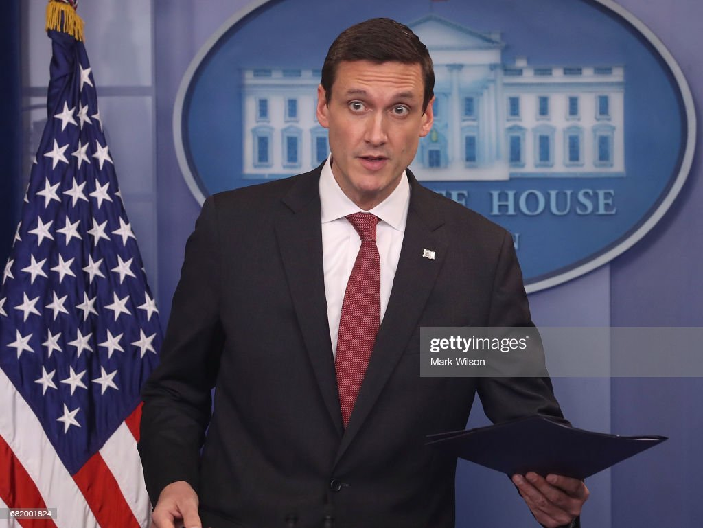 Homeland Security Advisor Tom Bossert speaks to the media during a briefing at the White House on May 11, 2017 in Washington, DC.