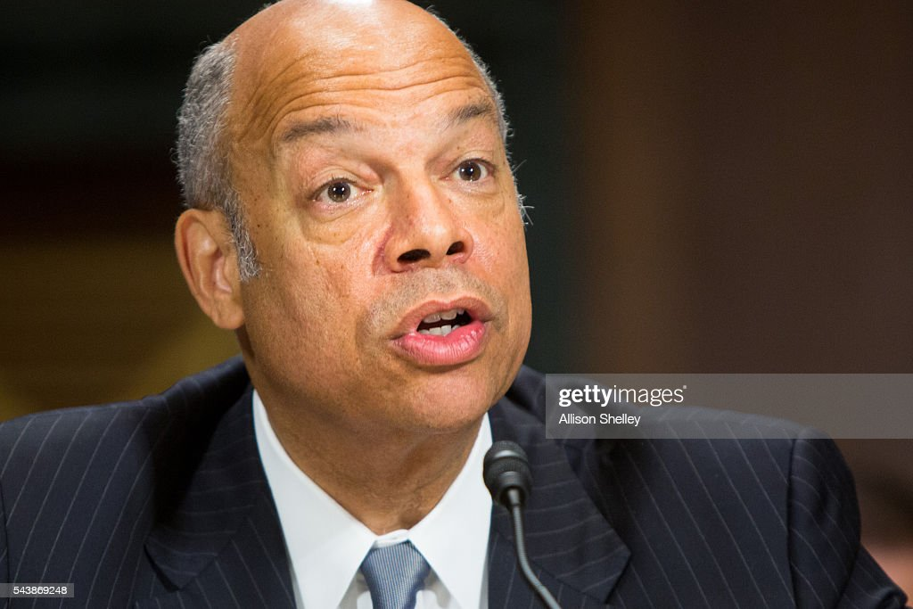 Homeland Security Chief Jeh Johnson Testifies To Senate Committee On Department Oversight