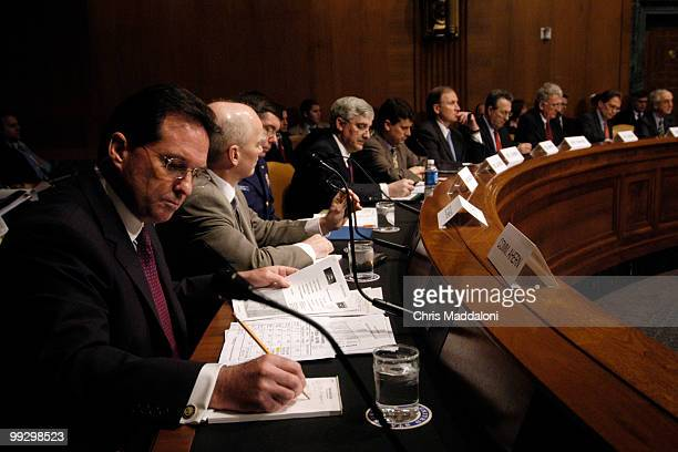 Homeland Security Office of Field Operations Assistant Commissioner Jayson Ahern with other Administration officials testify at a Senate Armed...