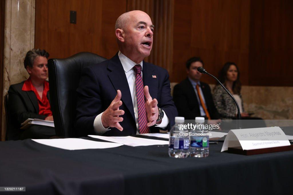 Senate Subcommittee Hears Testimony From DHS Secretary Mayorkas : News Photo