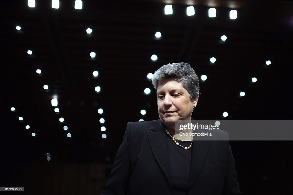 Janet Napolitano Testifes On Border Security To Senate Judiciary Committee