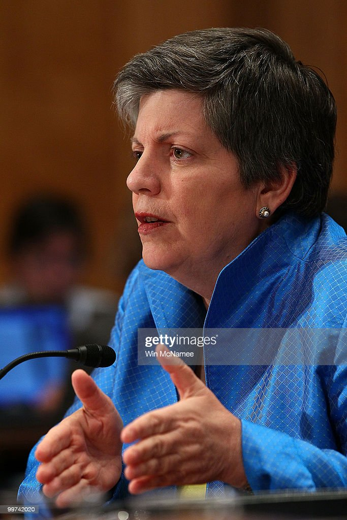 Homeland Security Secretary Janet Napolitano testified during a hearing of the Senate Homeland Security and Governmental Affairs Committee May 17, 2010 in Washington, DC. BP America Chairman and President Lamar McKay, Homeland Security Secretary Janet Napolitano and Coast Guard Deputy National Incident Commander Rear Adm. Peter Neffenger testified on the topic of 'Gulf Coast Catastrophe: Assessing the Nation's Response to the Deepwater Horizon Oil Spill.'