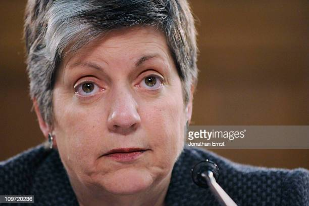Homeland Security Secretary Janet Napolitano testifies about the FY2012 budget for the Homeland Security Department at a hearing of the Homeland...