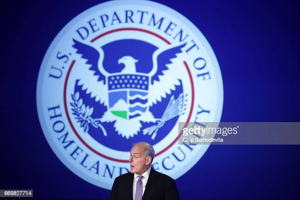 S Homeland Security Secretary John Kelly delivers his first public remarks since being appointed by President Donald Trump at the Jack Morton...