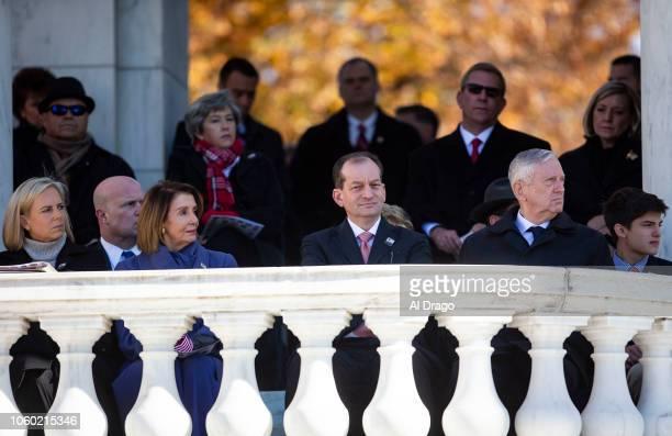 Homeland Security Secretary Kirstjen Nielsen House Minority Leader Nancy Pelosi Labor Secretary Alex Acosta and Secretary of Defense James Mattis...