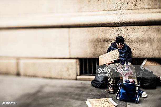 homeless and veteran - homeless veterans stock photos and pictures