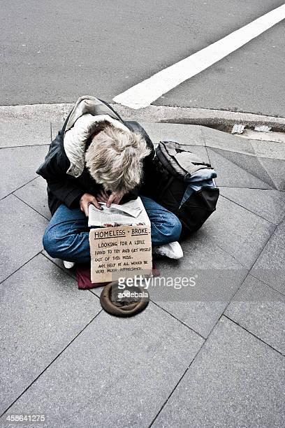 Homeless Begging Money on The Streets of Sydney