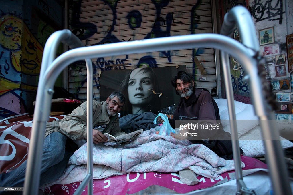Homeless in Athens : News Photo