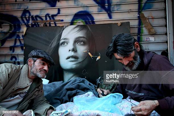 Homeless brothers find shelter in the same spot for over 2 years in Athens city center on Mar 18 2016