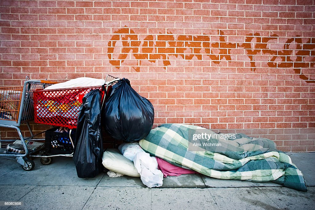 Homeless Encampment : Stock Photo