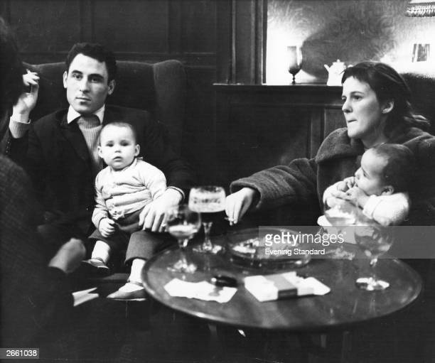 A homeless family in a pub