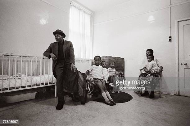 A homeless family in a room in north London 1967