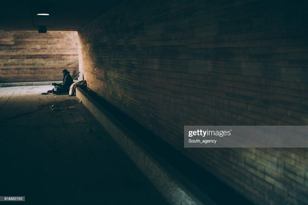 Homeless guy : Stock Photo