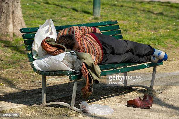 homeless in milano - fabio filzi stock photos and pictures
