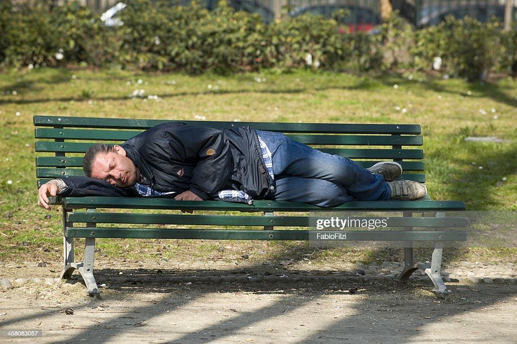 homeless in Milano : Stock Photo