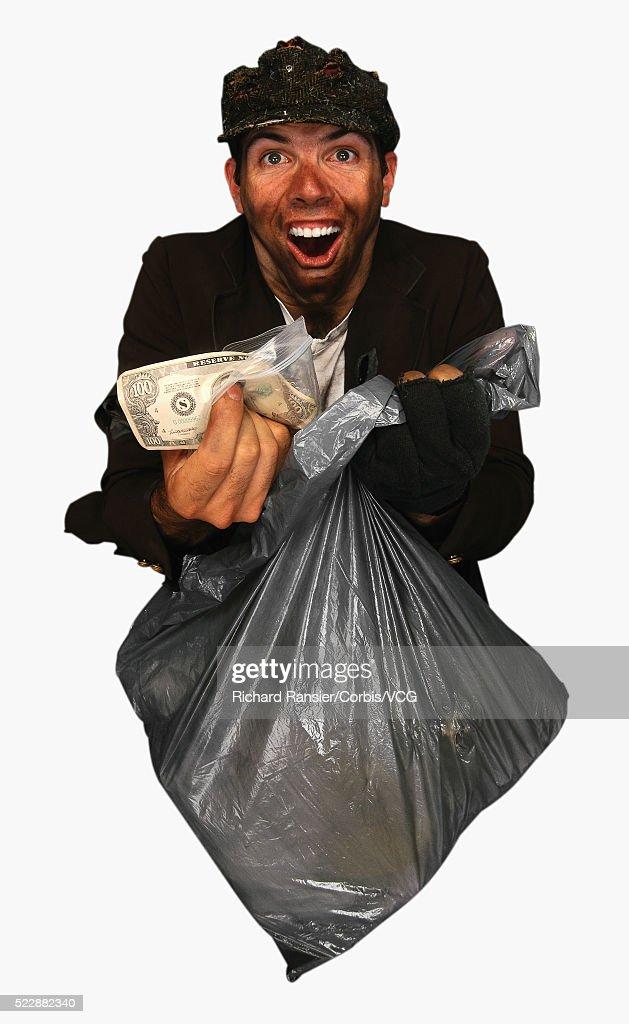Terrific Homeless Man Finds Money Stock Photo Getty Images Interior Design Ideas Inesswwsoteloinfo