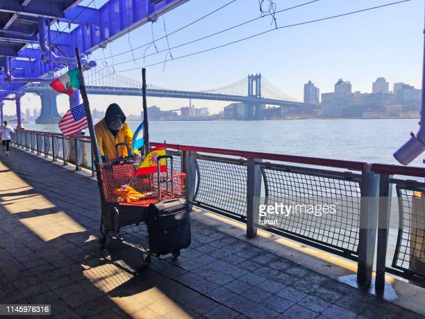 Homeless Man in Manhattan, New York, USA