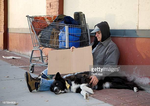 Homeless Man on a City Street