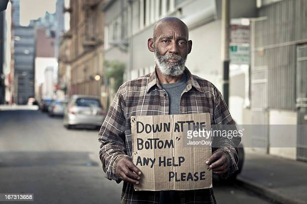 homeless man on the street - homeless stock photos and pictures