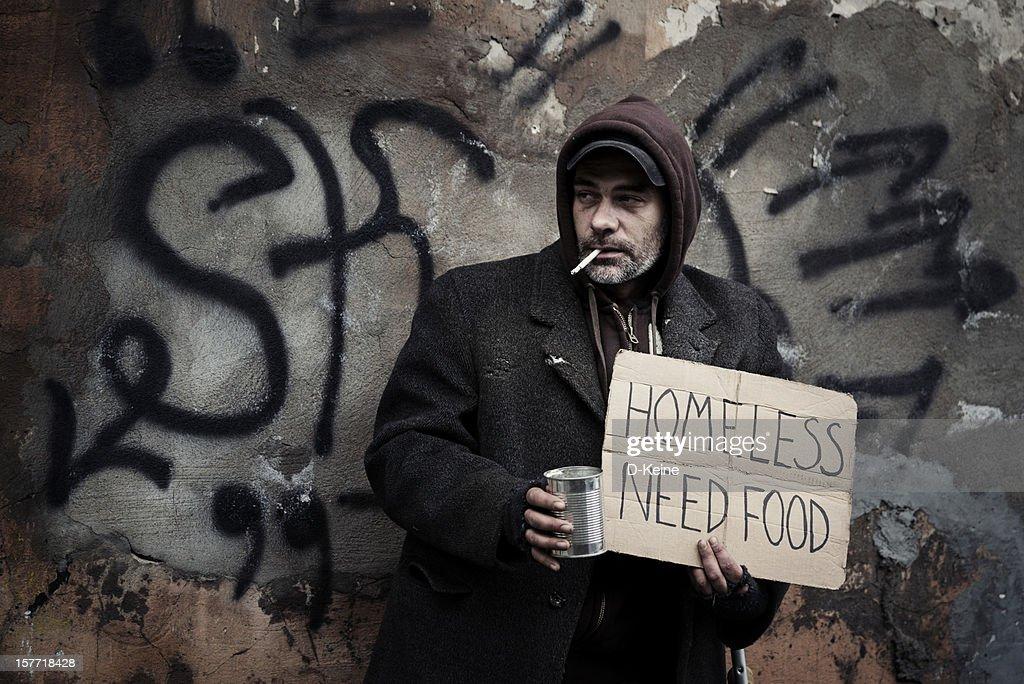 Homeless man : Stock Photo