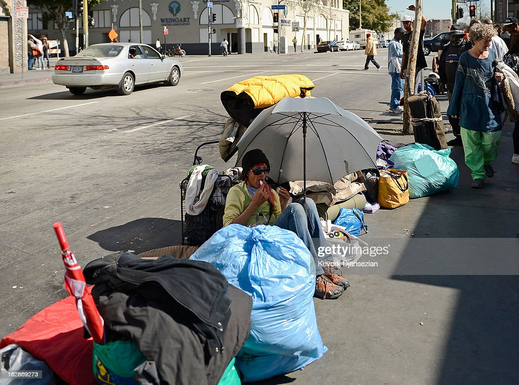 Skid Row Homeless People