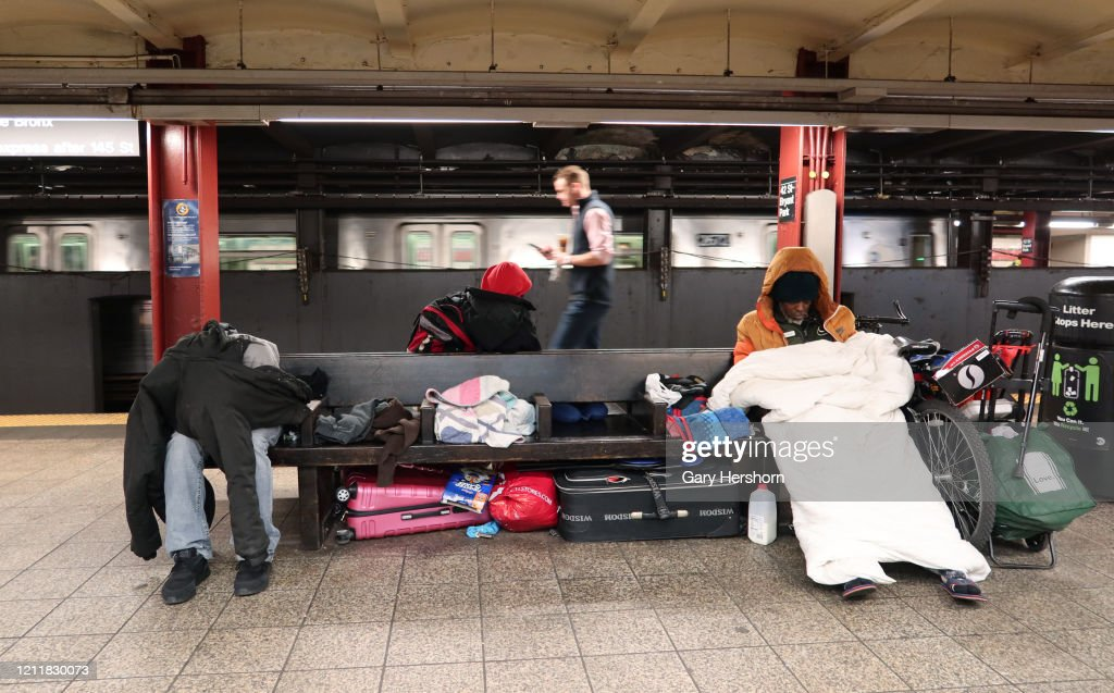 Homelessness in New York City : News Photo