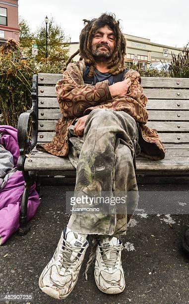 Homeless Person at Arcata's Square