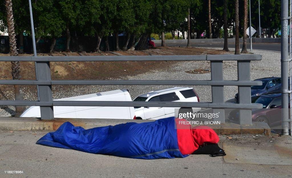 US-HOMELESS-LA : News Photo