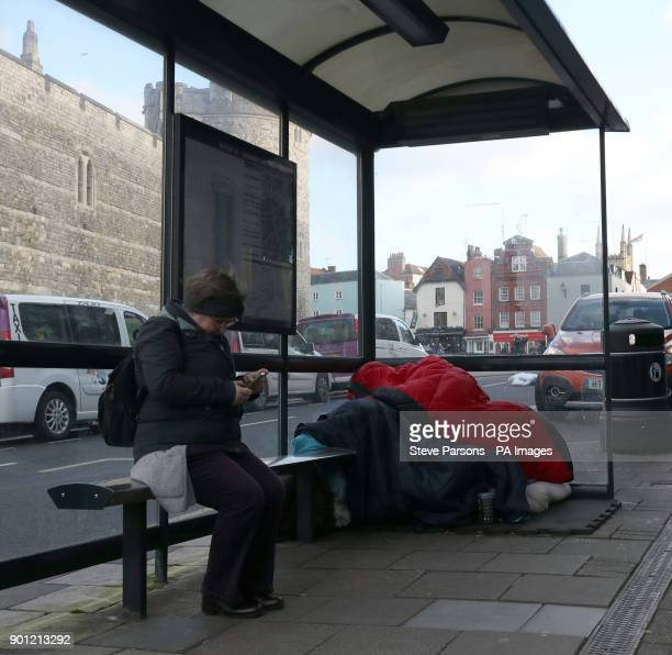 A homeless person sleeps rough near Windsor Castle Berkshire Prime Minister Theresa May has said she disagrees with Tory council leader Simon Dudley...
