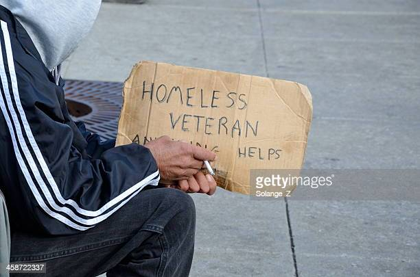 homeless - homeless veterans stock photos and pictures