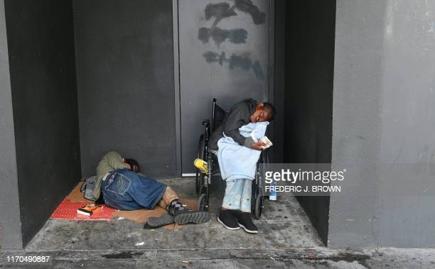 Homeless sleeping on the streets on September 20 in downtown Los Angeles California the state with the largest homeless population in America