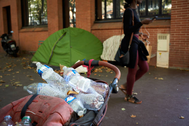 FRA: Homeless People In The Streets Of Toulouse