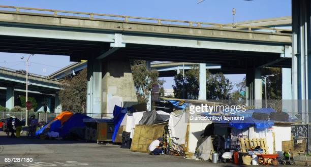 sf  homeless tents - homeless shelter stock pictures, royalty-free photos & images