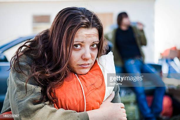 homeless woman and man - homeless stock photos and pictures