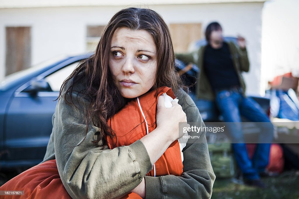 Homeless Woman : Stock Photo