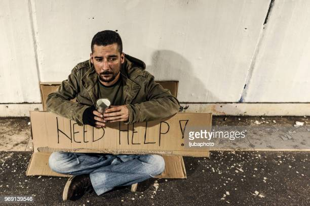 homelessness - homeless veterans stock photos and pictures