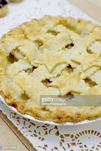 homemade apple pie - doily fotografías e imágenes de stock