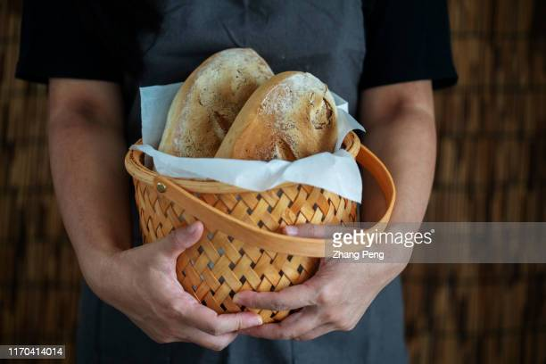 homemade bakery:rustic wholegrain bread